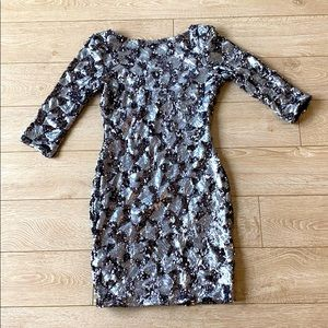 Sequin slim fit mini dress